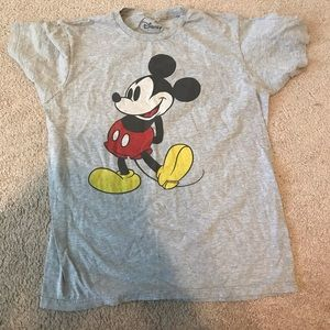 T-Shirt Large Mickey Mouse Disney Grey Uni-Sex